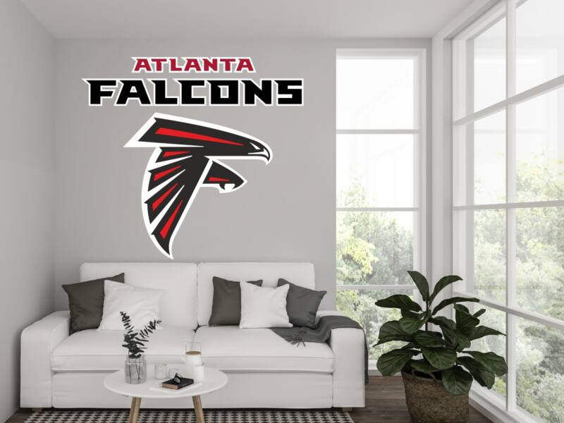 NFL Atlanta Falcons Logo - Színes Falmatrica