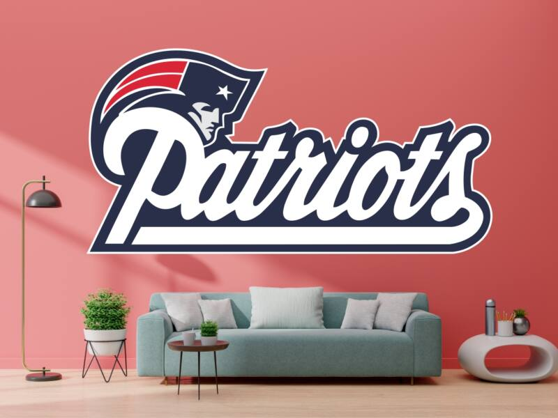 NFL New England Patriots Logo 02 - Színes falmatrica