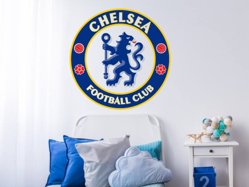 Chelsea FC logo színes falmatrica