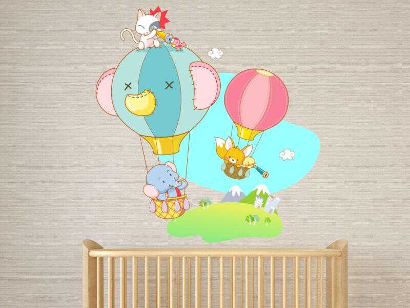 elefánt léggömbbel