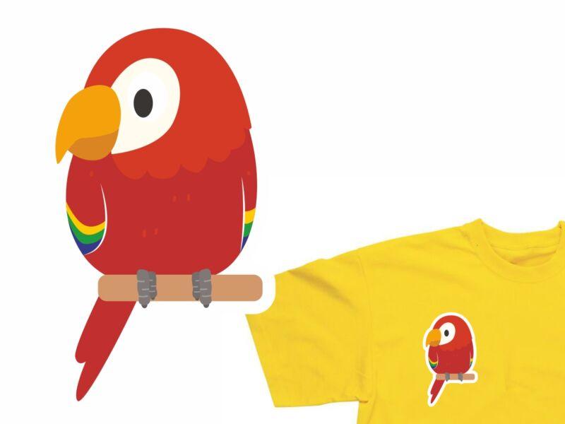 Papagáj - Vasalható matrica