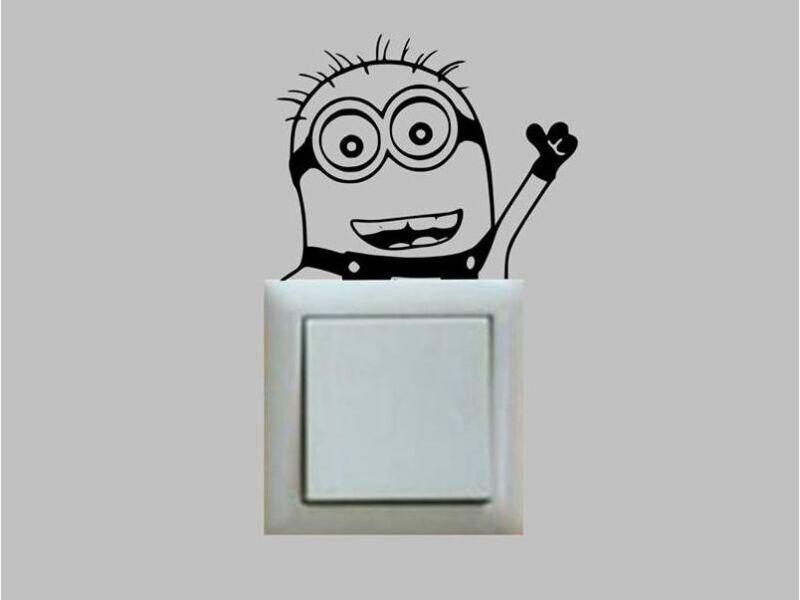 Minion kapcsoló matrica 01
