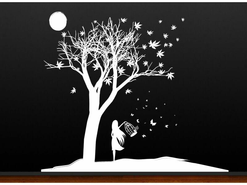 Fa holdfényben falmatrica
