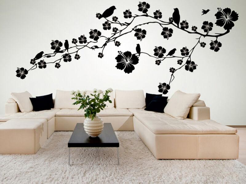 Virágos falmatrica madarakkal