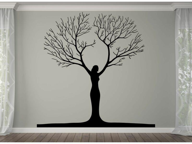 Fa női alakban falmatrica