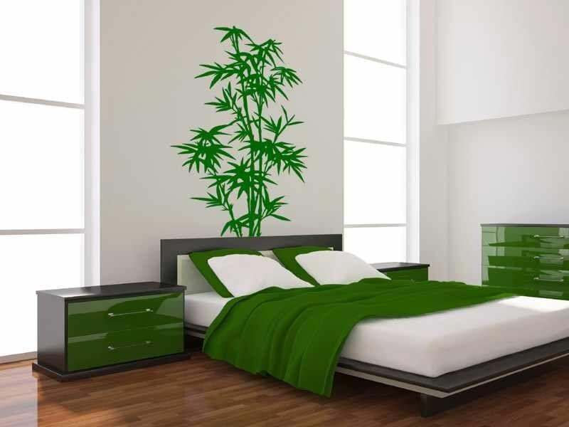 Gyönyörű bambusz falmatrica