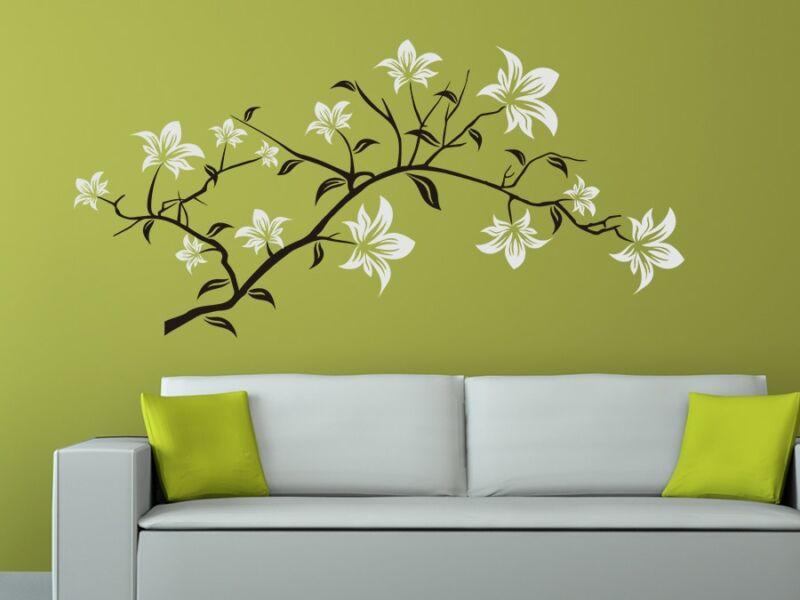Dekoratív virágminta falmatrica