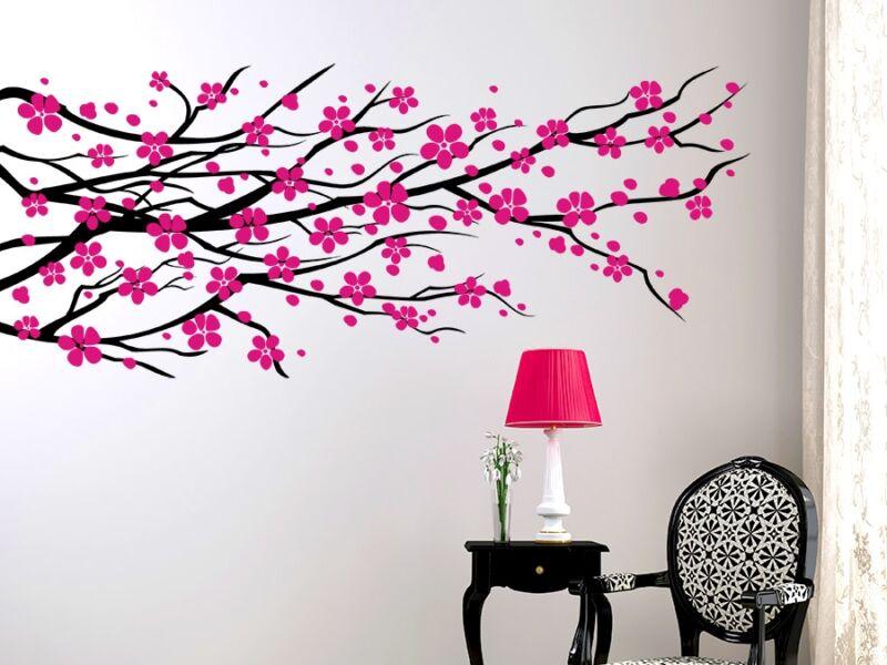 Virágzó faág falmatrica